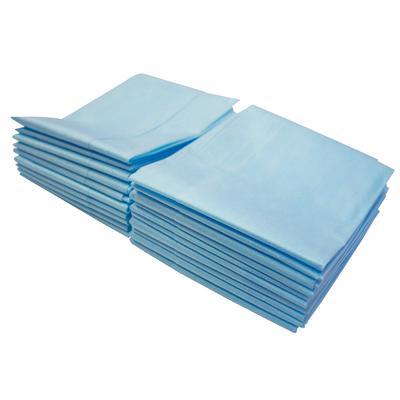 Салфетки одноразовые Гекса нестерильные в сложении 70х80 см (голубые, 20  штук в упаковке)