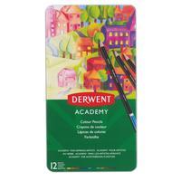 Карандаши цветные Derwent Academy Colour Pencil Tin 12 цветов