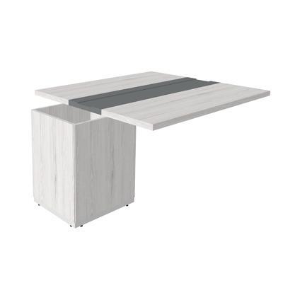 Модуль для стола переговоров Time.S Ts-140.1 расширяющий (дуб эльза, 1675х1400х750 мм)