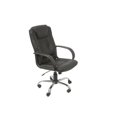 Кресло для руководителя Бюрократ Т-800 черное (кожа/пластик/металл)