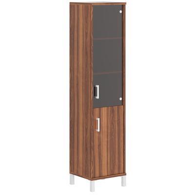 Шкаф-колонка Born правый (орех даллас/стекло тонированное, 475х450х2054 мм)