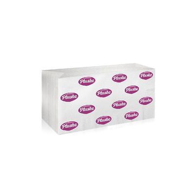 Полотенца бумажные листовые Plushe V-сложения 1-слойные 200 листов