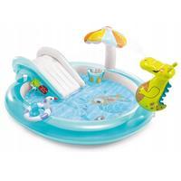 Детский надувной бассейн Intex Крокодильчик 201x170x84 см с разбрызгивателем