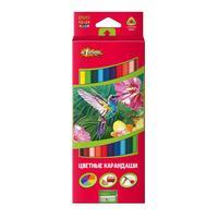 Карандаши цветные №1 School ColorPics 24 цвета (двусторонние) трехгранные с точилкой