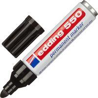 Маркер перманентный Edding E-550/1 черный (толщина линии 3-4 мм) круглый наконечник
