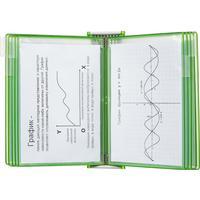 Демосистема настенная А4 10 панелей зеленого цвета Tarifold Candy line