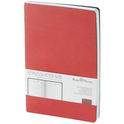 Ежедневник недатированный Bruno Visconti Megapolis Flex искусственная  кожа A5 136 листов красный (140х210 мм)