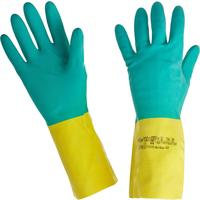 Перчатки КЩС Ansell AlphaTec Бай Колор 87-900 неопрен/латекс синие/желтые (размер 7,5-8, S)
