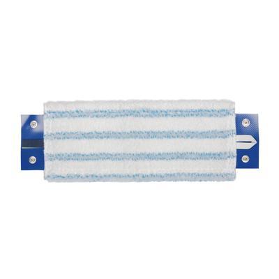 Насадка МОП плоская микрофибра 34 см белая/голубая