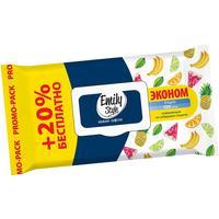 Влажные салфетки освежающие Emily Style Tropic 100+20 штук в упаковке