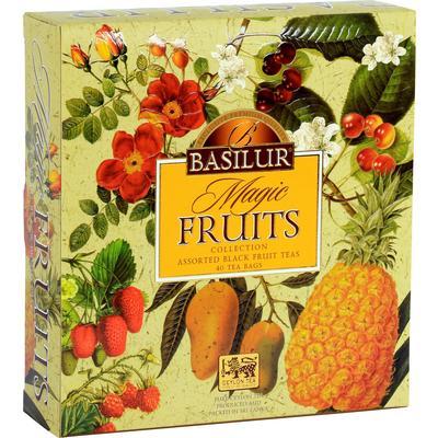 Чай подарочный Basilur Волшебные фрукты листовой черный ассорти 40 пакетиков