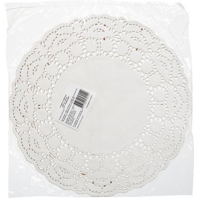 Ажурные салфетки бумажные Vitto диаметр 26 см белые 1-слойные 100 штук в  упаковке