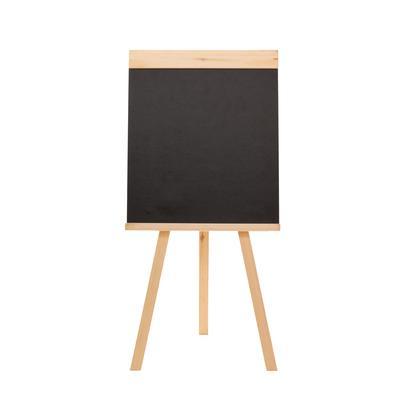 Доска-мольберт меловая немагнитная 45x42 см грифельная черная Attache