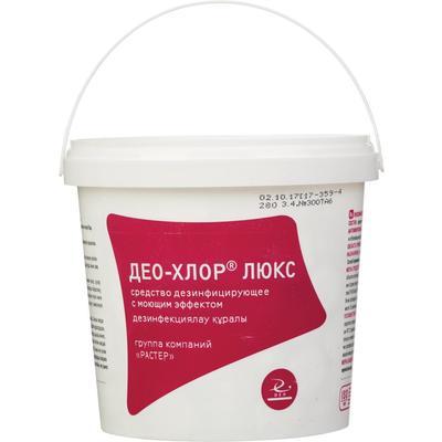 Средство дезинфицирующее Део-хлор Люкс хлорные таблетки (90 штук в упаковке)