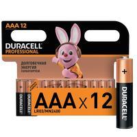 Батарейки Duracell Professional мизинчиковые ААА LR03 (12 штук в упаковке)
