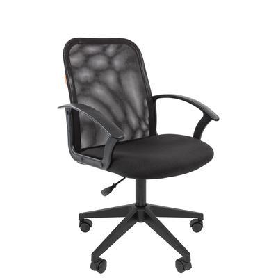 Кресло офисное Chairman 615 черное (ткань/сетка/пластик)