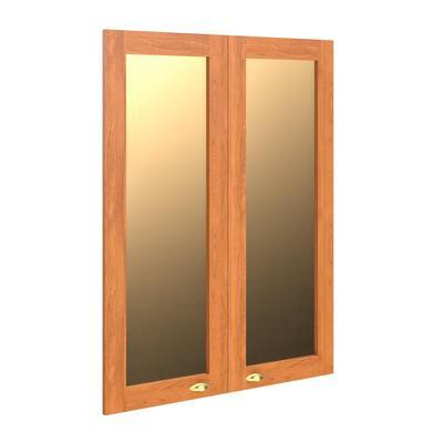 Двери стеклянные Raut RGFD42-2 в рамке (2 штуки, орех даллас/бронза, 880х26х1132 мм)