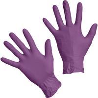Перчатки медицинские смотровые нитриловые S&C LN303 нестерильные неопудренные фиолетовые размер L (200 штук в упаковке)