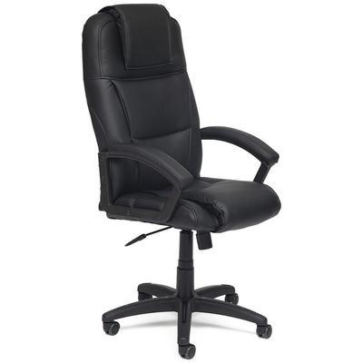 Кресло для руководителя Bergamo черное (искусственная кожа, пластик)