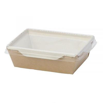 Бумажный контейнер DoEco Eco OpSalad 800 для салата 800 мл коричневый (186х106х55 мм, 150 штук в упаковке)