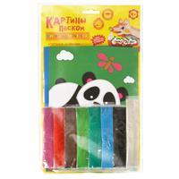 Набор для изготовления картины из песка Каляка-Маляка Тигренок и панда