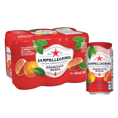 Напиток S.Pellegrino газированный сокосодержащий красный апельсин 0.33 л (6 штук в упаковке)