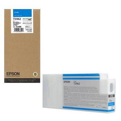 Картридж струйный Epson T5962 C13T596200 голубой оригинальный