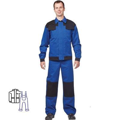 Костюм рабочий летний мужской л09-КПК антистатический синий/черный (размер 52-54, рост 170-176)