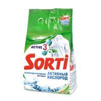 Порошок стиральный автомат Sorti Активный кислород 2.4 кг (для белого белья)