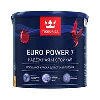 Краска моющаяся Tikkurila Euro Power 7 A белая матовая 2,7 л