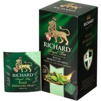 Чай Richard Royal Moroccan Mint зеленый с мятой 25 пакетиков