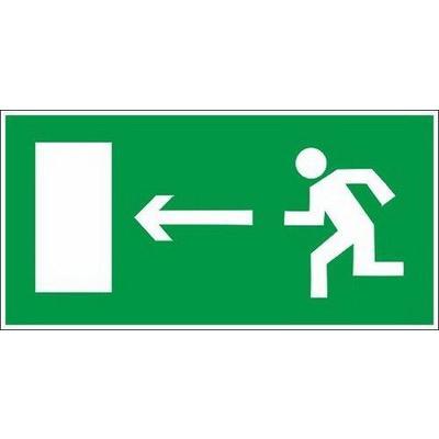 Знак  безопасности Направление к эвакуационному выходу налево Е04 (300х150х2 мм, пластик, фотолюминесцентный)