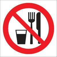Знак безопасности Запрещается принимать пищу Р30 (200x200 мм, пластик)