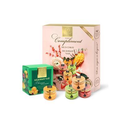 Подарочный набор Compliment (мед 495 г, чай 35 г)