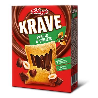 Подушечки Kellogg's Krave с шоколадно-ореховой начинкой 220 г
