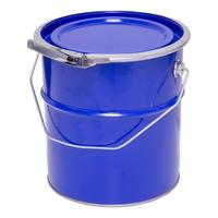 Ведро металлическое с крышкой-обручем 3 л синее