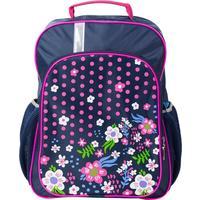 Рюкзак школьный №1 School Цветочная фантазия синий