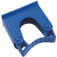Зажим  для щеток и рукояток Hillbrush Hold 1 B пластик синий (диаметр 20-30 мм)