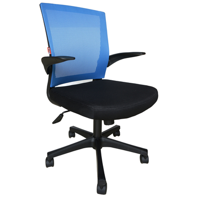 Кресло офисное Easy Chair 316 черное/синее (ткань/сетка/пластик)