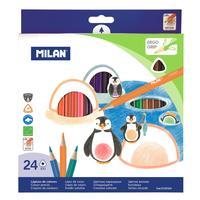 Карандаши цветные Milan 24 цвета трехгранные
