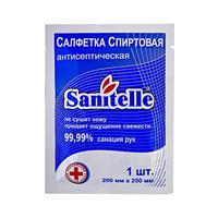Салфетка для рук антисептическая Sanitelle Спиртовая 200x250 мм
