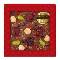 Шоколад подарочный Chokodelika молочный с украшением из вишни/фундука и карамели 75 г