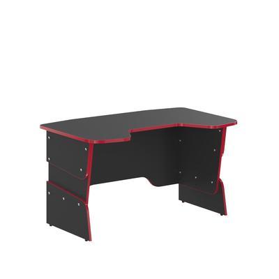 Стол компьютерный для геймеров Skill STG 1385 (антрацит/красный, 1360х850х814 мм)