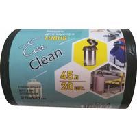 Мешки для мусора на 45 литров EcoСlean Tubus черные (25 мкм, в рулоне 20 штук, 40x90 см)