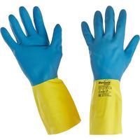 Перчатки Manipula Specialist Союз LN-F-05 из неопрена и латекса синие/желтые (размер 8, M)