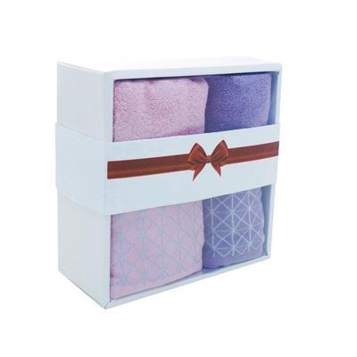 Набор полотенец махровых Лозанна 50х80 см 1 штука 70х130 см 1 штука 380 г/кв.м розовое/сиреневое