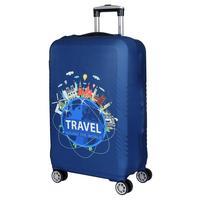 Чехол для чемодана Fabretti синий (W1016-L)
