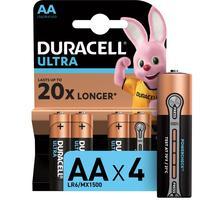 Батарейки Duracell Ultra пальчиковые AA LR6 (4 штуки в упаковке)