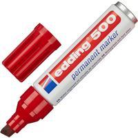 Маркер перманентный Edding 500/2 красный (толщина линии 2-7 мм) скошенный наконечник