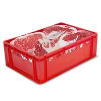 Ящик (лоток) мясной из ПНД 600x400x200 мм красный